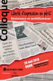 Colloque: Libert� d'expression en p�ril - R�sistance et mobilisations