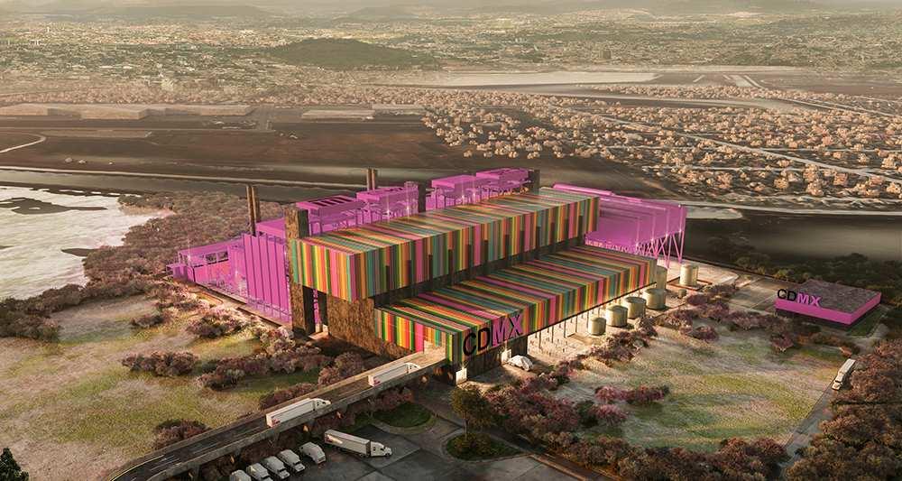 Le futur incinérateur pourra traiter un tiers des déchets de la ville pour alimenter le métro © Veolia
