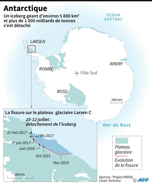 AFP / Sabrina BLANCHARD Antarctique: un iceberg géant prêt à se détacher